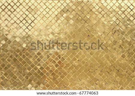 golden mosaic background - stock photo