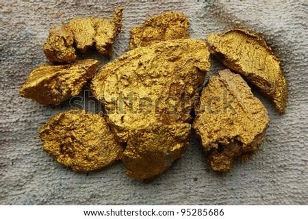 golden nugget - stock photo
