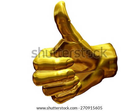 golden okay or like - stock photo