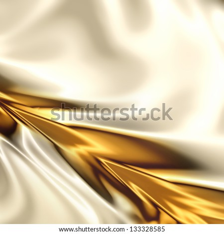 Golden on the white artistic texture - stock photo