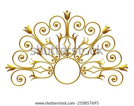 golden Ornament - stock photo