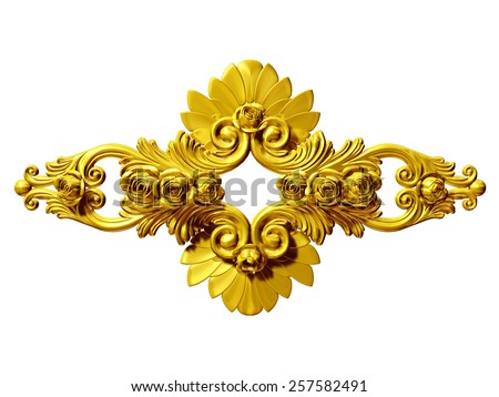 golden Ornament - stock photo
