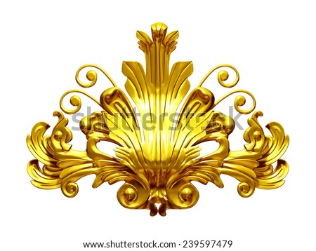 golden ornamental Segment  - stock photo