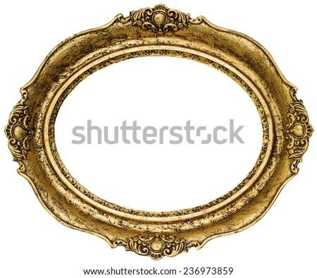Art Nouveau Gold Mirror Frame Stock Photo 150066851