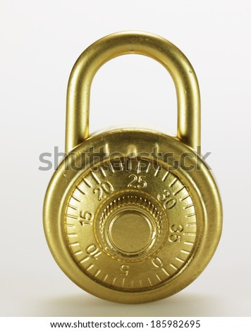 Golden Padlock with Dial