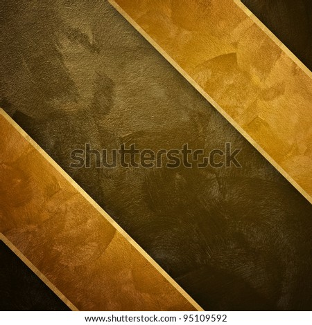 golden paint background with strip - stock photo
