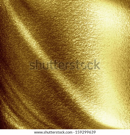 golden panel with some highlights and shades on it - stock photo