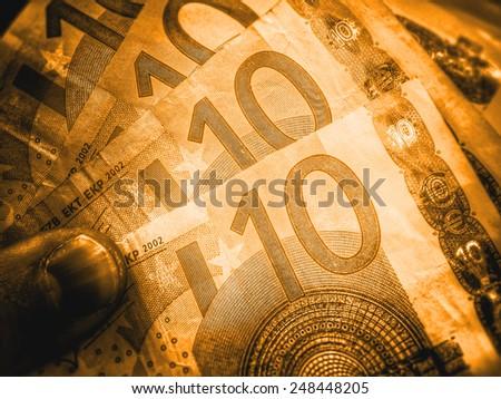 golden paper money - stock photo