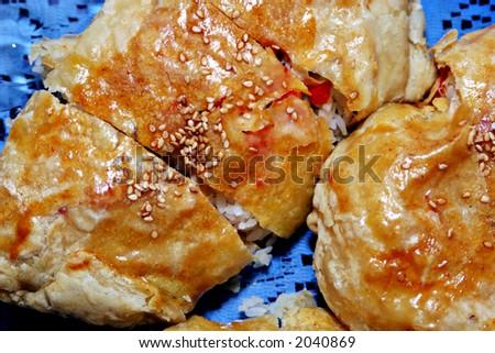 Golden pastry - stock photo