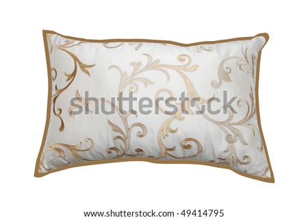 golden pattern pillow - stock photo