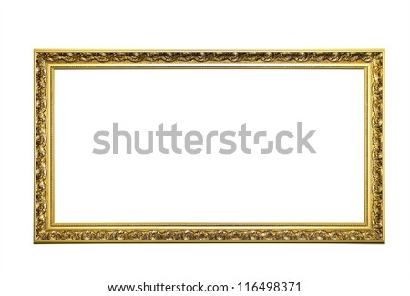 Golden Picture Frame - stock photo