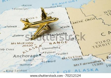 Alaska Map Stock Images RoyaltyFree Images Vectors Shutterstock - Mount mckinley on us map