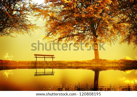 Golden Planet - stock photo
