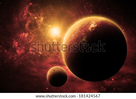 Golden Planet - Elements of This Image Furnished By NASA