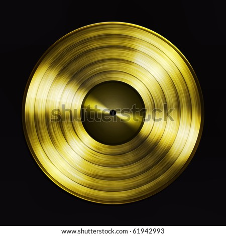 Golden record - stock photo