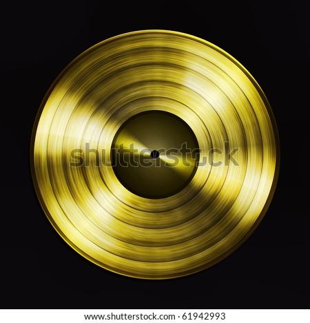 Golden record - stock photo