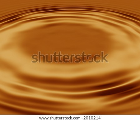 Golden Ripples useful for an expression of sound or music - stock photo
