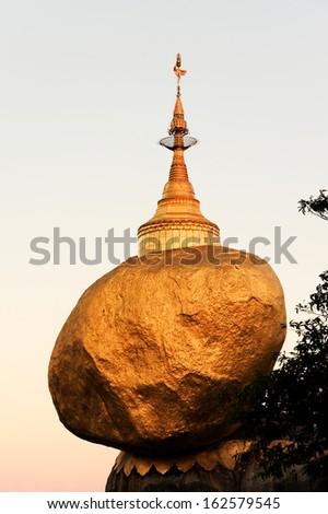 Golden Rock (Kyaiktiyo), Burma  - stock photo