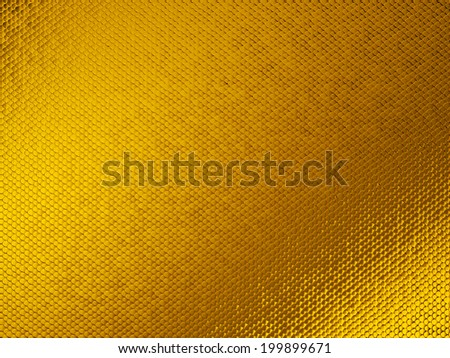 Golden Scales textured material or background. Large resolution - stock photo