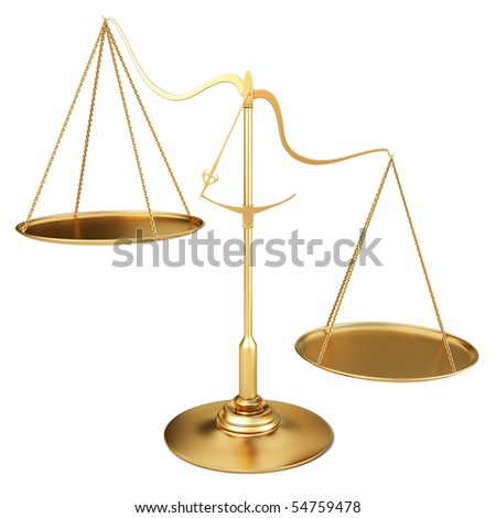 golden scales. with clipping path. - stock photo