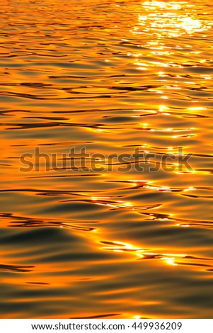 golden sea during sunset