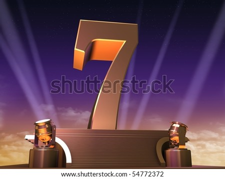 golden seven - stock photo