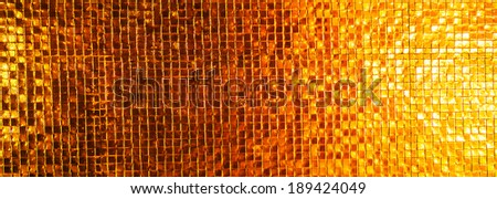 golden shine wall tile texture background - stock photo