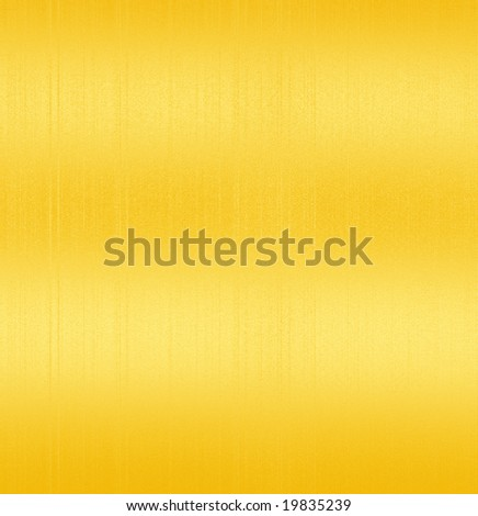 Golden Shiny Brushed Steel. Texture or background - stock photo