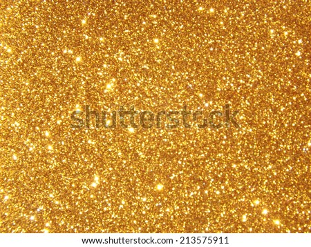 Golden Shiny Wallpaper , Perfect for Christmas, New Year or any other Holidays Background - stock photo