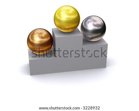 Golden, Silver,  and Bronze - stock photo