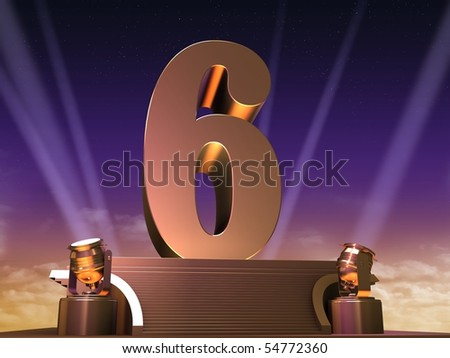 golden six - stock photo