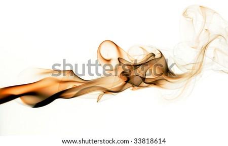Golden smoke - stock photo