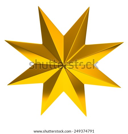 Golden star - stock photo