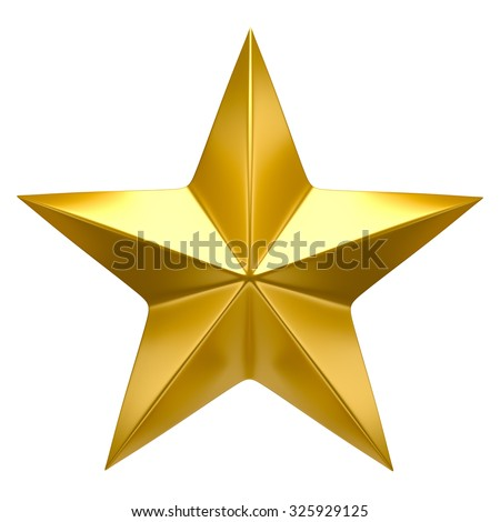 Golden star - stock photo