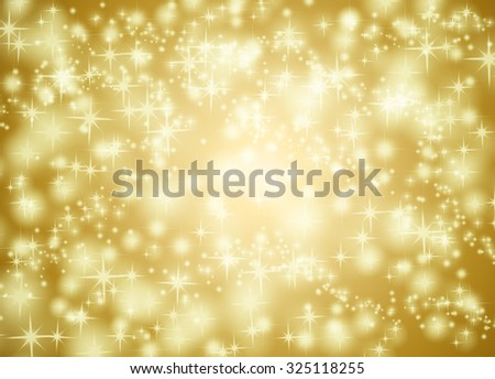 Golden star background illustration - stock photo