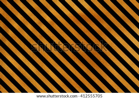 Golden striped background. Abstract pattern with golden stripes on black background. Golden shining texture. Gold paint on black.