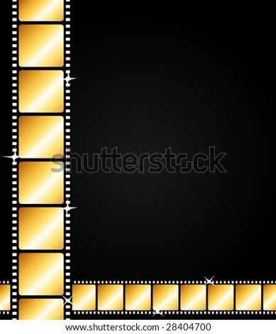 Golden strips background - stock photo