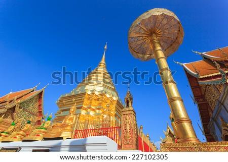 Golden Stupa on Doi Sutep, Chiangmai - stock photo