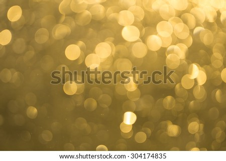 golden sun bokeh blur - stock photo