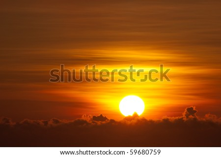 golden sunrise - stock photo