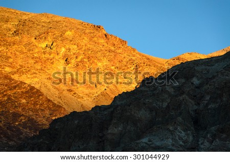 Golden Sunset at Death Valley National Park - stock photo