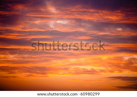 Golden sunset clouds background
