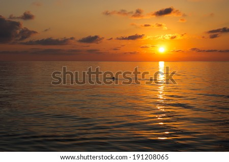 Golden sunset over the Black Sea