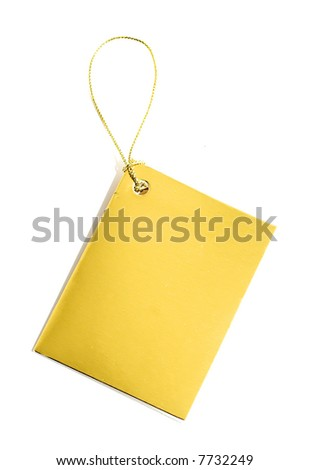 Golden Tag for text messages on a white background