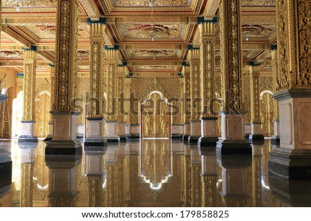 Golden temple, Thailand - stock photo