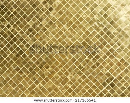 golden tiles pattern - stock photo
