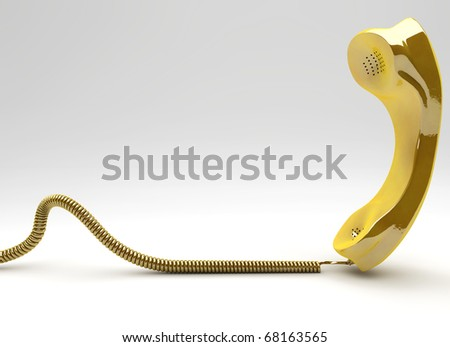 Golden Times for the telecommunication  business concept - stock photo