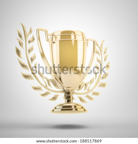 Golden trophy cup for the winner