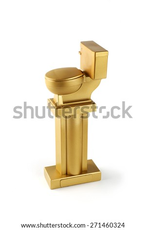 Golden trophy toilet for Halloween party the worse disguise or the best costume  sc 1 st  Shutterstock & Golden Trophy Toilet Halloween Party Worse Stock Photo (Royalty Free ...