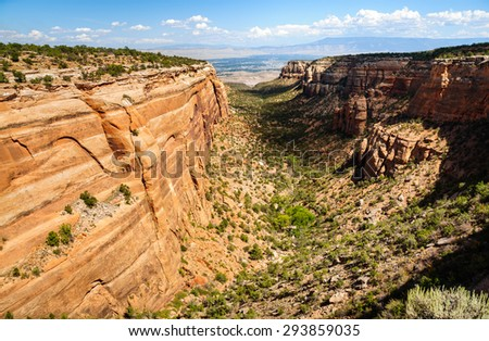 Golden Valley at Colorado National Monument - stock photo